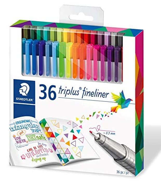 Staedtler 334 Triplus Fineliner Superfine Point Pens, 0.3 Mm, Pack of 36