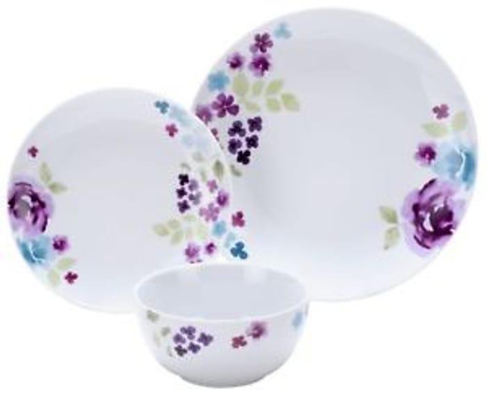 Heart of House Somerton 12 Piece Porcelain Dinner Set - Floral.