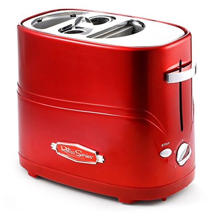 Pop up Hotdog Warmer and Toaster - 60% Off