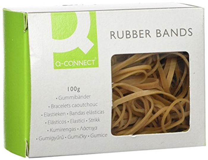 Q Connect Assorted Rubber Bands, 100 G (Add on Item)
