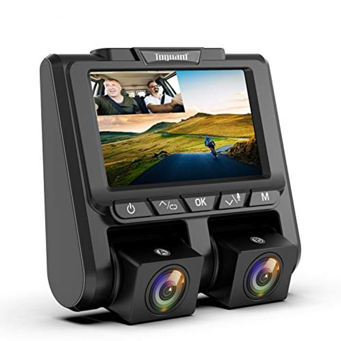 Deal Stack! TOGUARD Dual Dash Cam FHD 1080P Front and Rear Dashcam