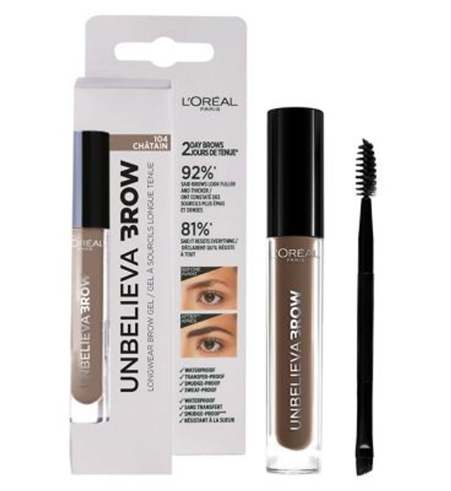 £3.00 off at Boots - L'Oreal Paris Unbelieva'brow Long-Lasting Brow Gel