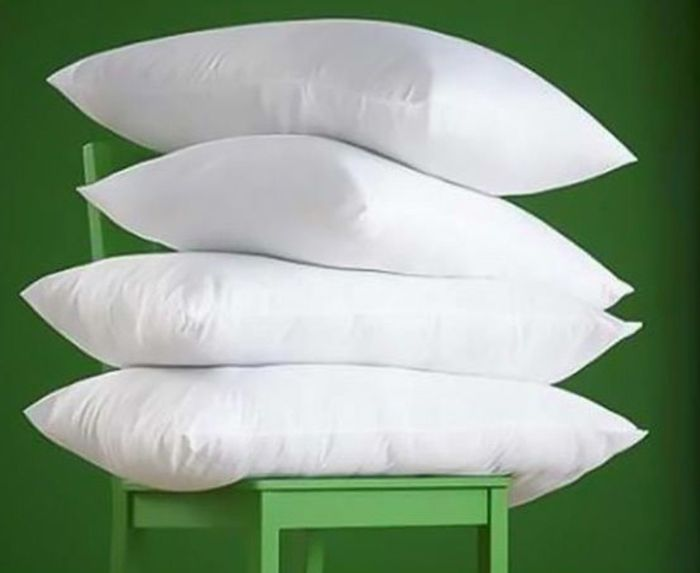 4 Luxury Non-Allergenic Goose Feather & down Pillows