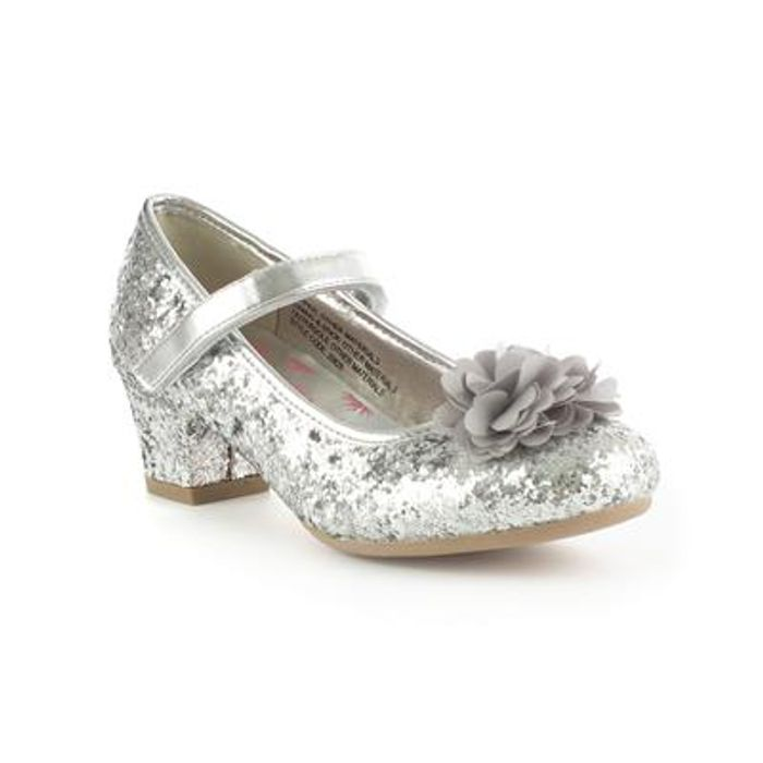 Lilley Sparkle Girls Sliver Party Shoe Discount