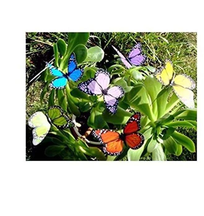 10 Butterflys on Sticks