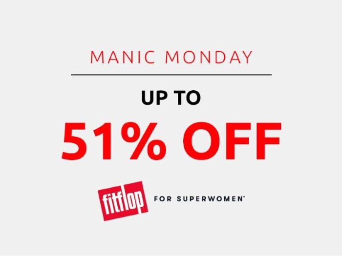 Save up to 51% on Fitflop | Manic Monday