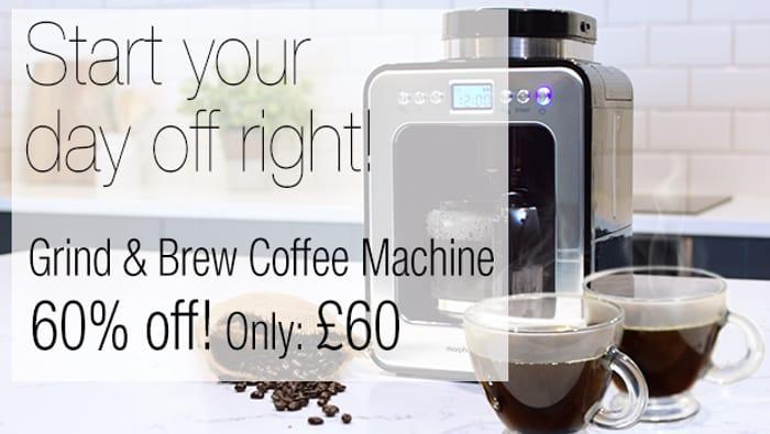 Get 60% off the 162100 Grind & Brew Coffee Machine