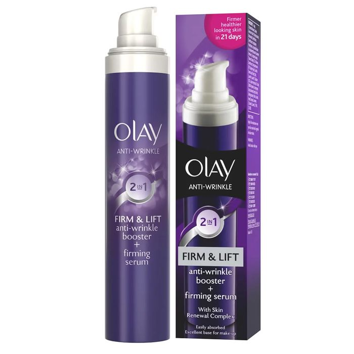 *HALF PRICE* Olay Wrinkle Firm and Lift 2 in 1 Day Cream and Serum 50ml