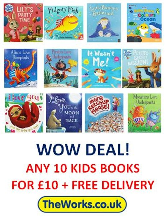 10 BOOKS for £10 + FREE DELIVERY! Fantastic Deal for Kids!
