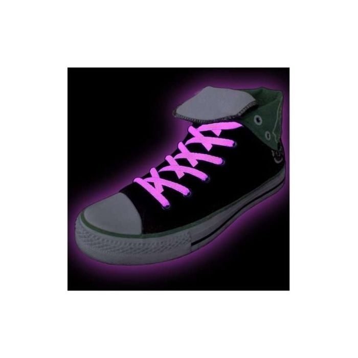 Amazing Glow in the Dark Shoelaces (Pink) for £1.99