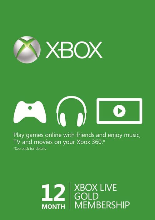 12 Month Xbox Live Gold Membership (Xbox One/360) - EU