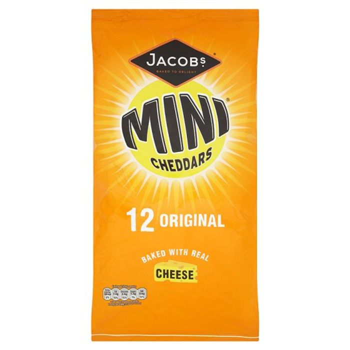 Jacobs Mini Cheddars / Red Leicester Snacks 12 X 25 G