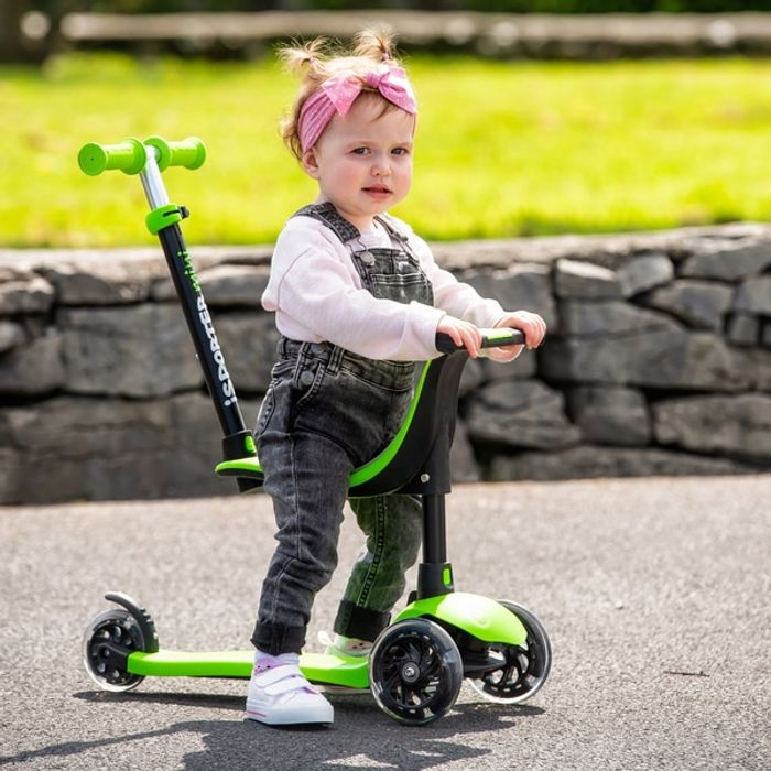 I-Sporter Mini 4-in-1 LED Lime Scooter Discount