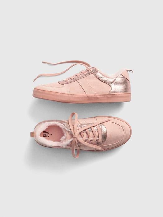 GAP Cozy Metallic Sneakers - 64% Off