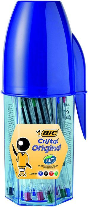 **BARGAIN** BIC Cristal Original Ballpoint Pens Assorted Colours 20 Pot
