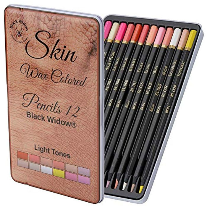 Light Skin Tone Pencils, Perfect Colored Pencils Set for Adults - Save £8