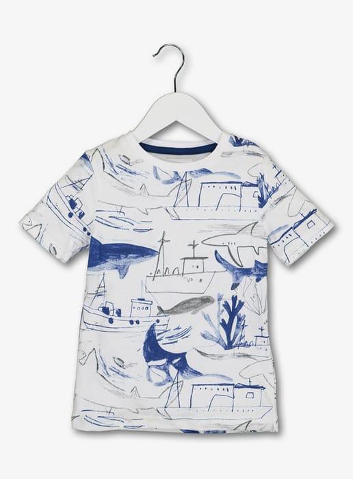 White Shark Tshirt Kids - HALF PRICE