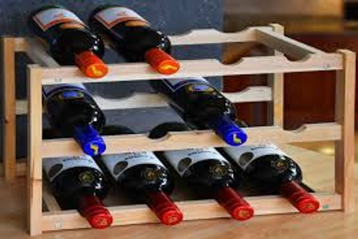 Three-Tier Wooden Wine Rack 2 Colours! Save 80%