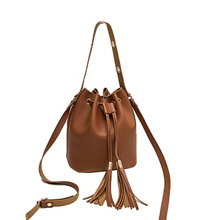 Drawstring Leather Crossbody Bag - £6.36 Delivered