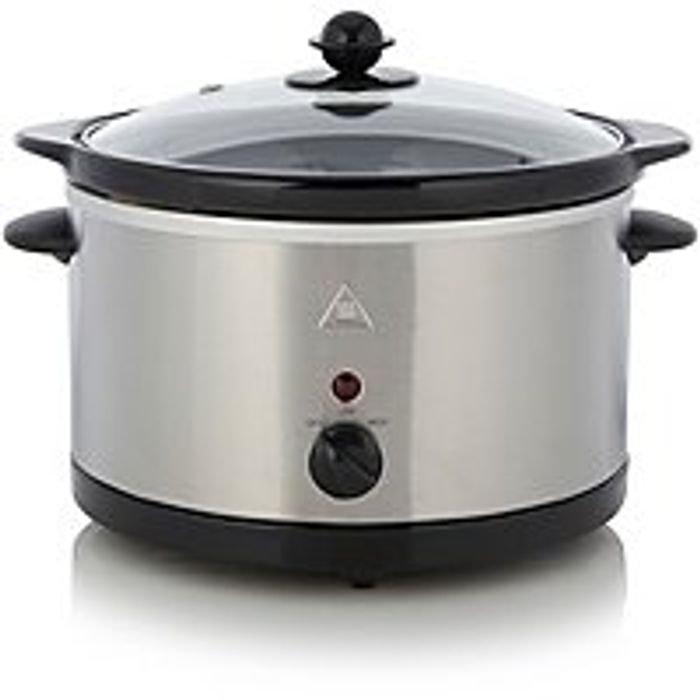 3L Slow Cooker - Stainless Steel - Save £4