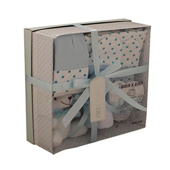 Baby Gift Set - Newborn or Baby Shower Gift Box/Hamper for Boy or Girl Blue
