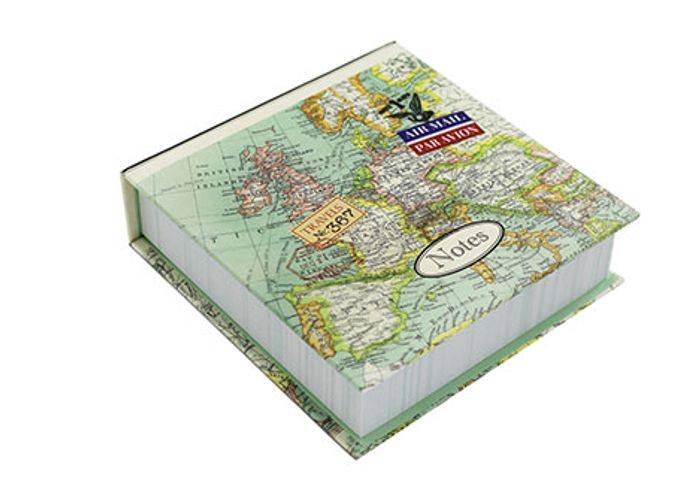 Vintage Map Notes Memo Block - 20% Off