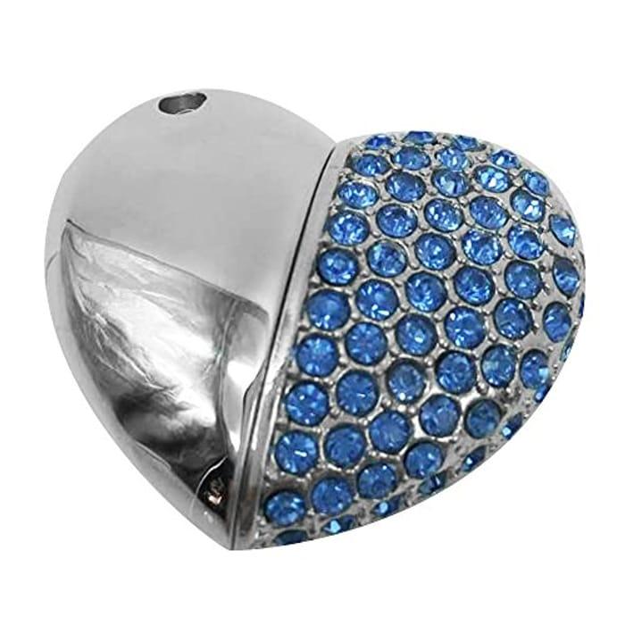 Keywish Heart Diamond USB2.0 (32GB, Blue)