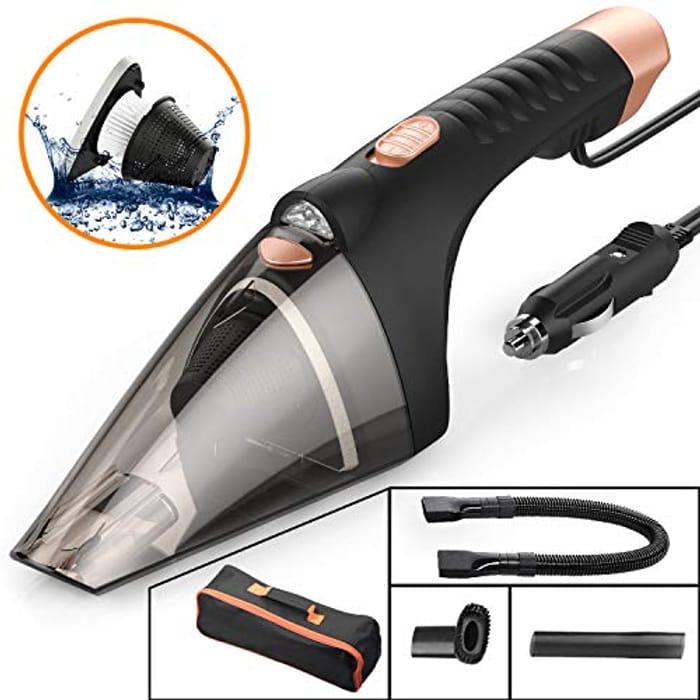 SONRU Car Vacuum Cleaner, DC 12V 106W Wet/Dry 4.0KPA