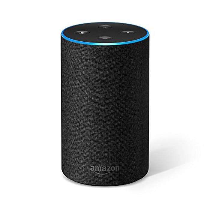 (25% OFF) Certified Refurbished Amazon Echo (2nd Generation), Charcoal Fabric