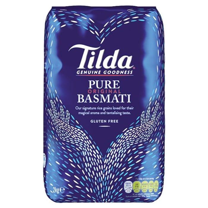 Tilda Pure Basmati Rice 2Kg TESCO