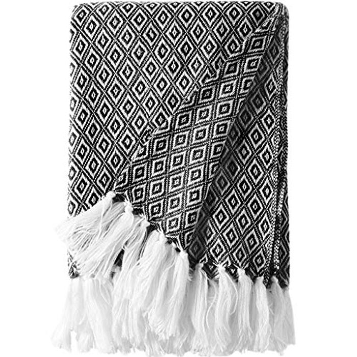 LANGRIA Knitted Throw Blanket Only £7.99