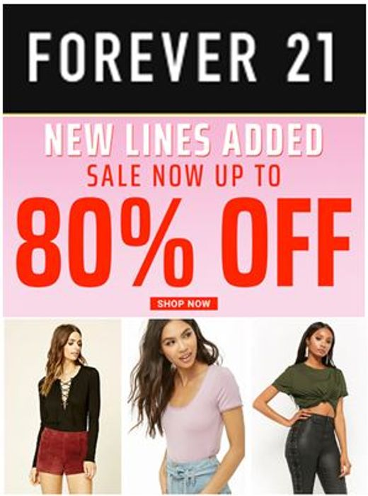 FOREVER 21 SALE - up to 80% OFF!