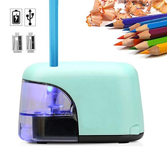 Electric Pencil Sharpener, USB or Battery Operated Pencil Sharpener
