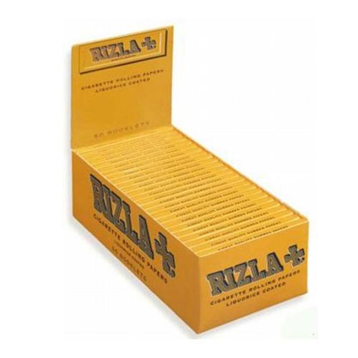 Rizla Regular Liquorice Cigarette Rolling Papers One Box of 100 Booklets