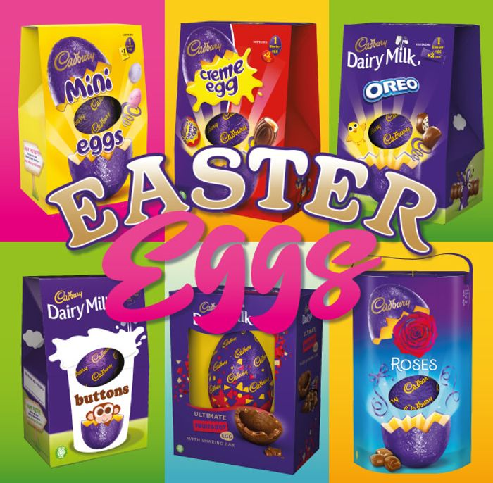 **CADBURYS** Egg Sale plus an Extra 15% Off