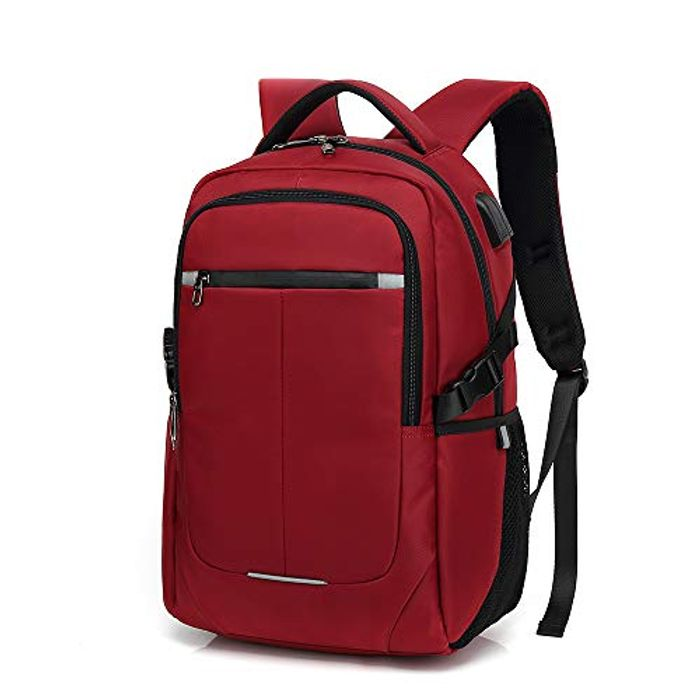 Laptop Backpack, Water Resistant USB Charger Port Headphone Hole