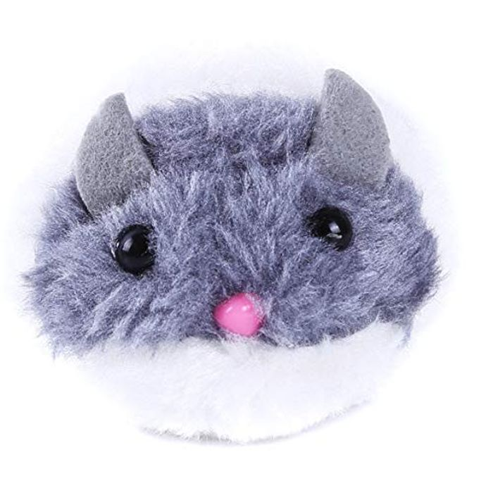 Cute Funny Simulation Mice Pet Plush Pull Ring Vibration Toy Pet Cat Toy