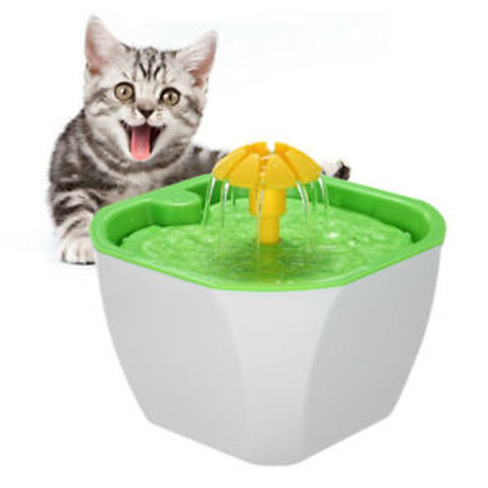 Pet Water Fountain 1.6L Auto Cat Flower