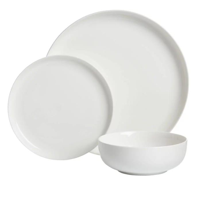Wilko 12 Piece White Dinner Set Free C&C