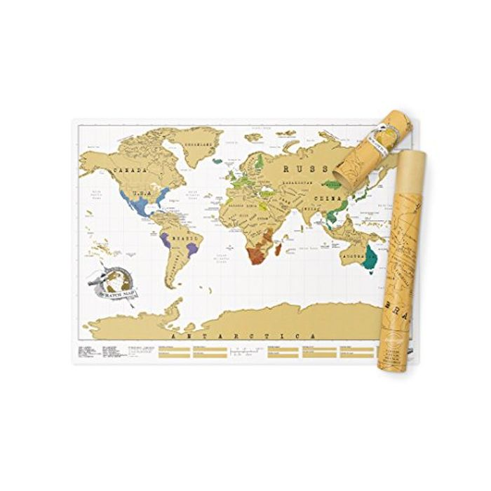 Scratch Map Original Scratch off Map, Personalized World Travel Map Poster