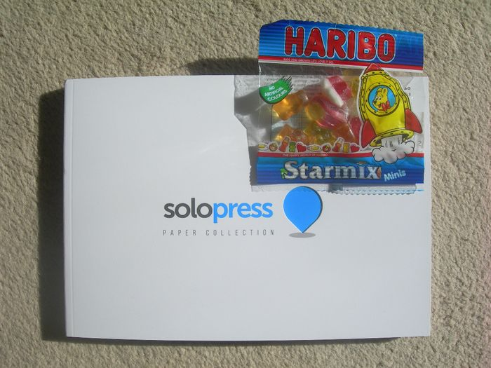 Free Haribo Sweets with Solopress Paper Sample Pack