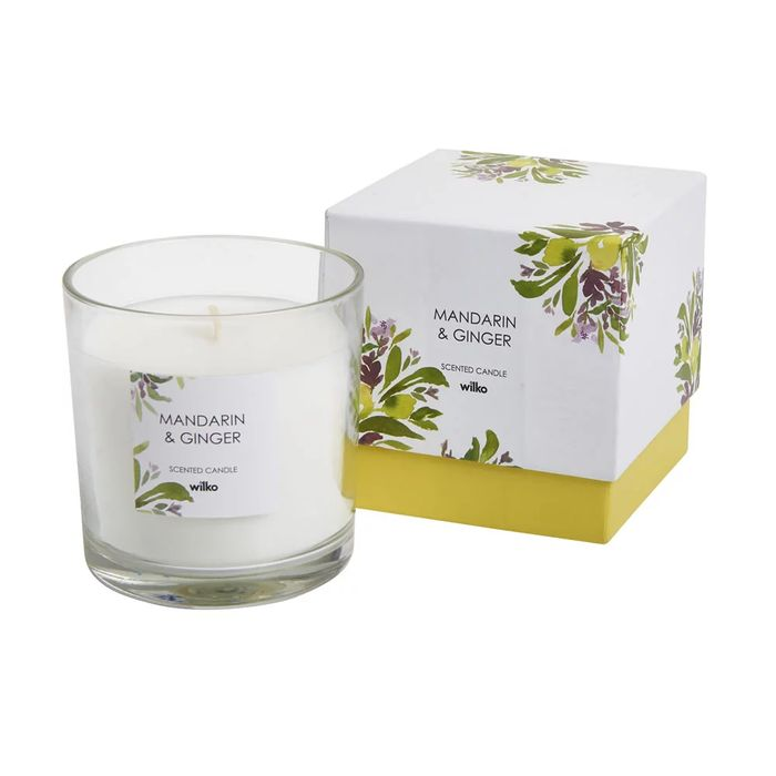 Mandarin and Ginger Boxed Glass Candle