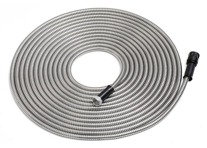 50ft 'Smart Steel' Garden Hose & 7-Inch Nozzle