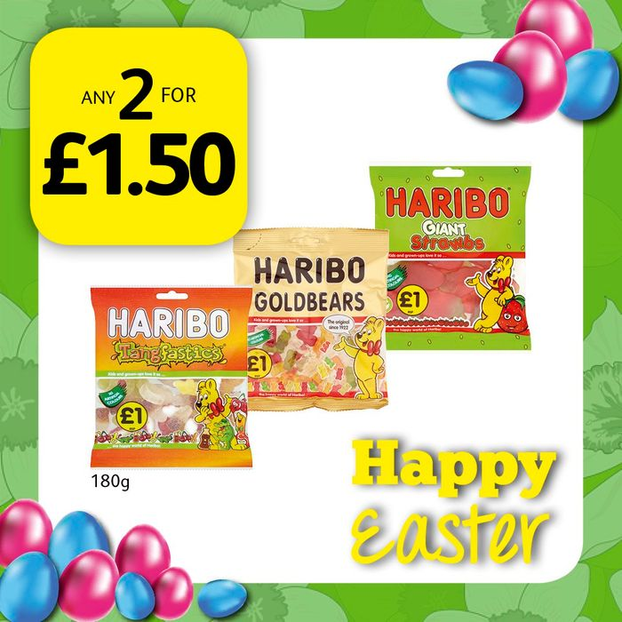 Haribo! Any 2 for £1.50