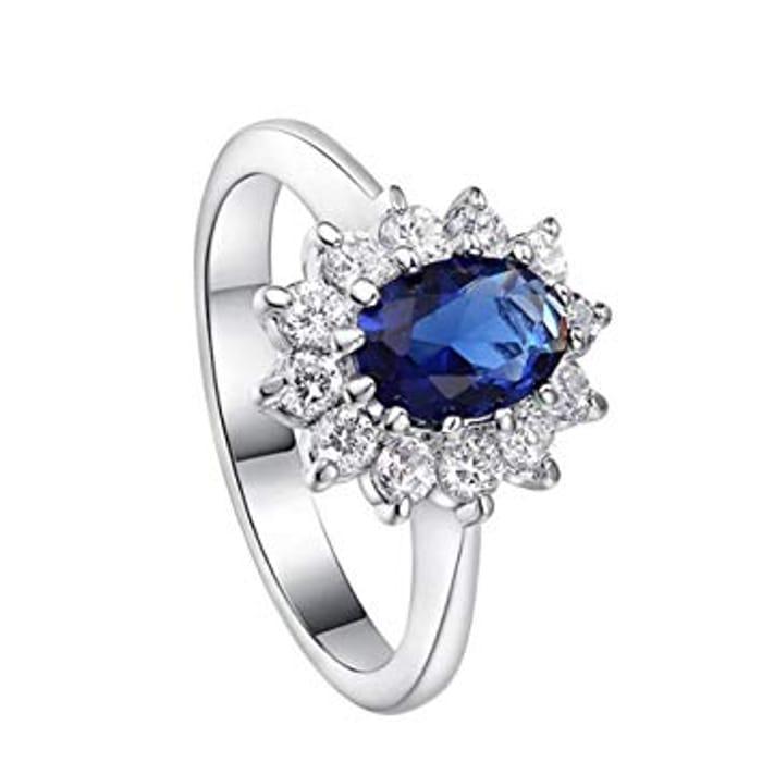 Diamond Ring Elegant Crystal Rings Wedding Jewelry