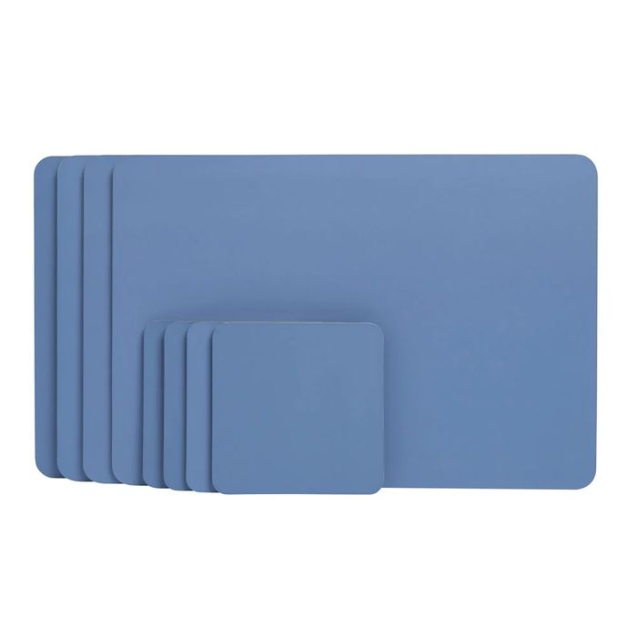 Wilko 8 Pack Blue Placemats and Coasters