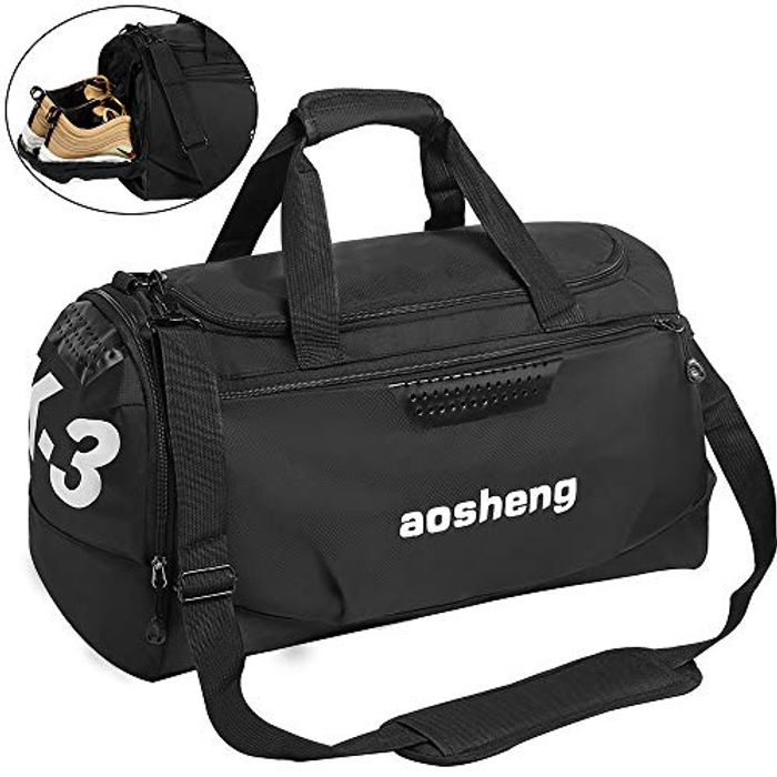 Gym Bag Travel Duffles Bag with Separate Shoe Compartment
