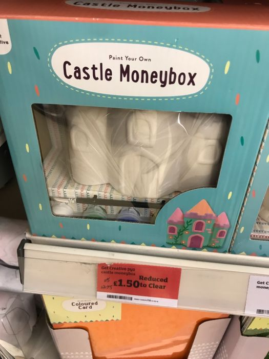 Paint Your Own Castle Moneybox