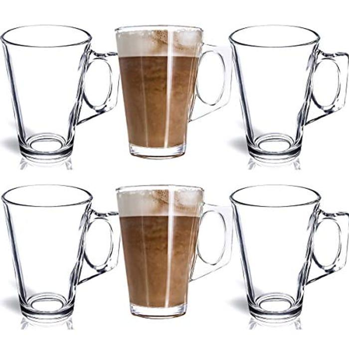 6 Latte Glasses 240ml