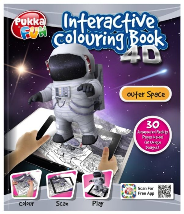 Pukka Pad AR Outer Space Interactive Colouring Book